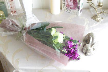 ミニ花束のラッピング方法